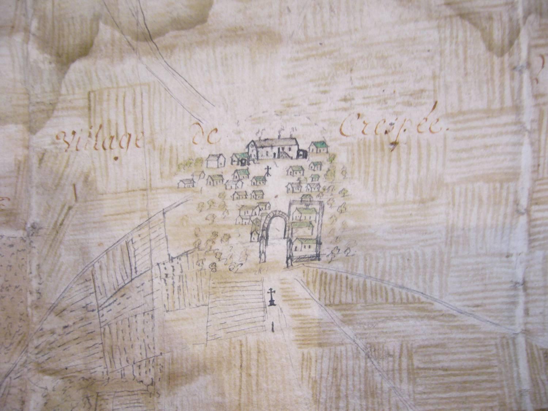 La grange de Crépey au XVIe siècle
